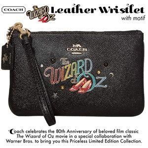 Coach Wizard of Oz Leather Wristlet